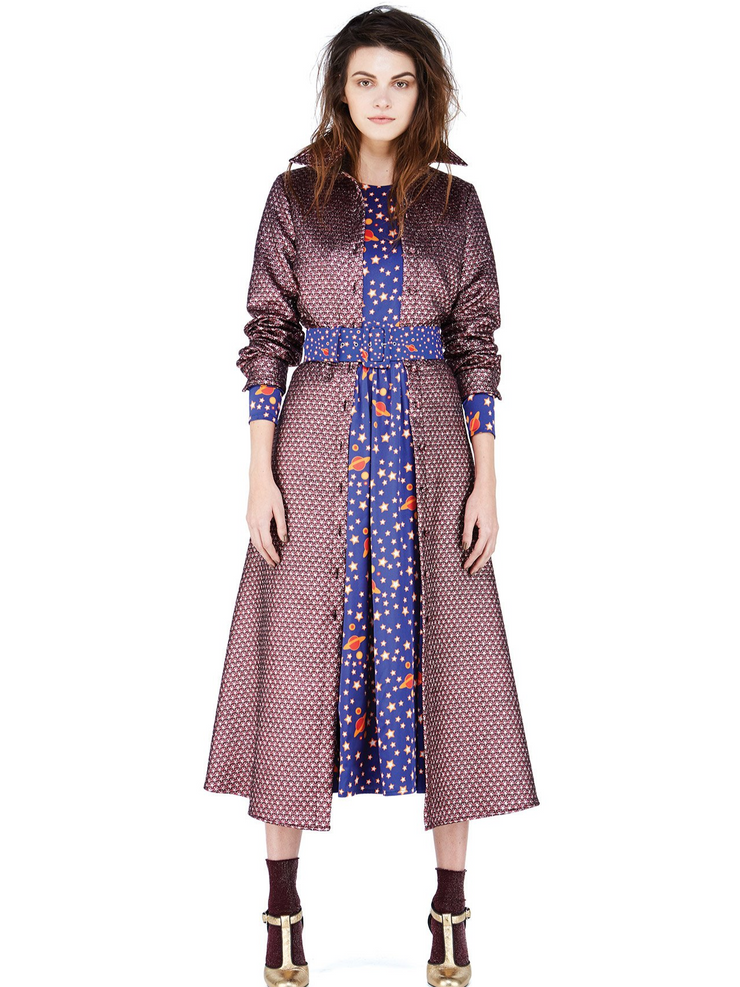 Ultrachic Star Lurex Shirt Dress
