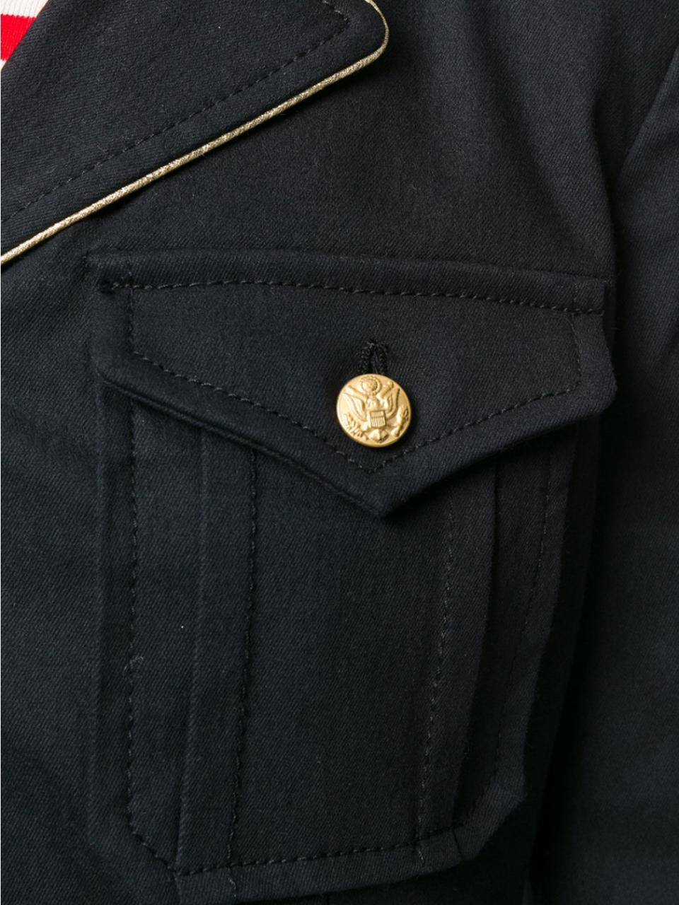 Military Style Navy Blue Jacket - The Bobby Boga