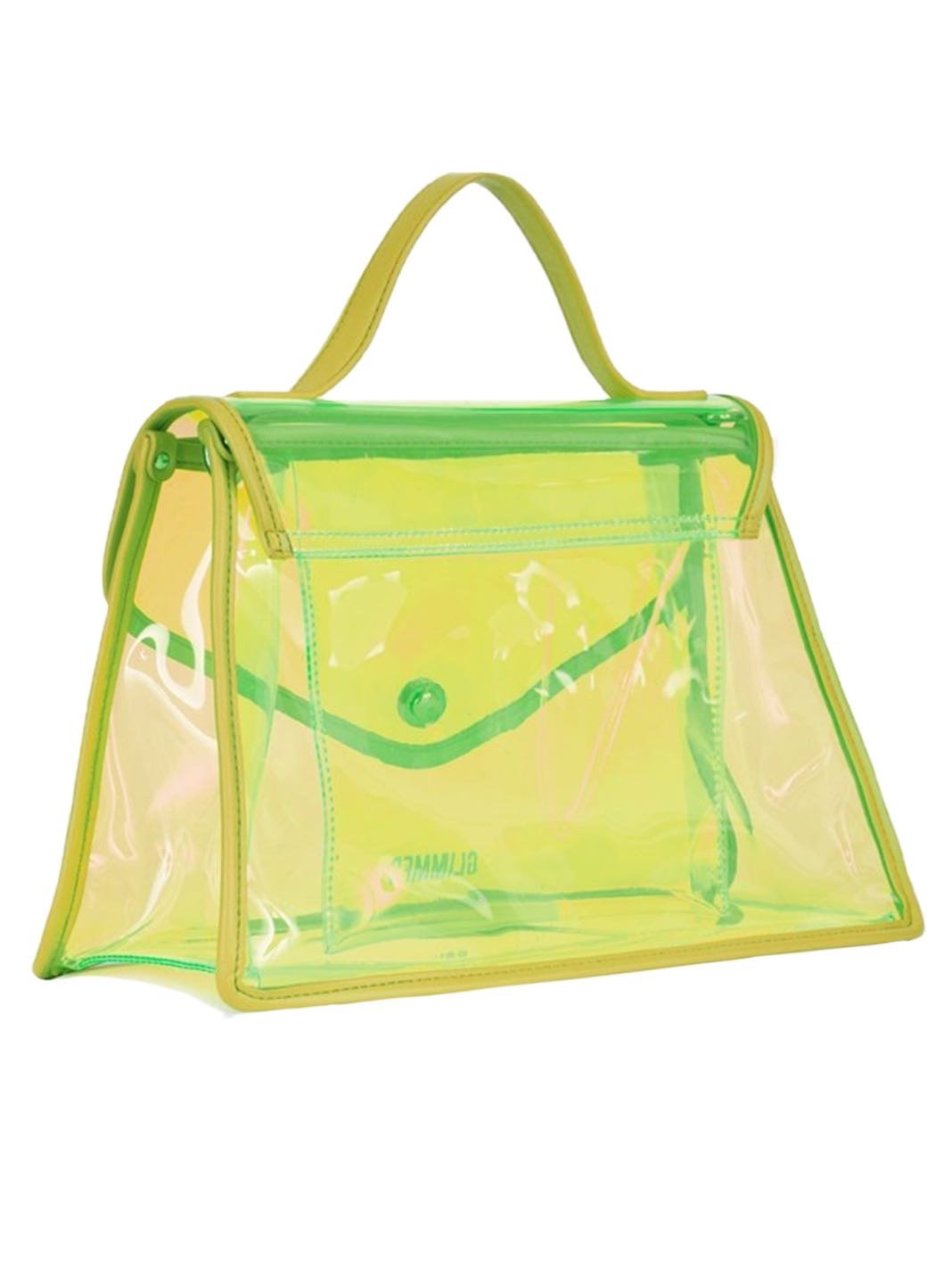 Layla Beach-Bag PVC Yellow - The Bobby Boga