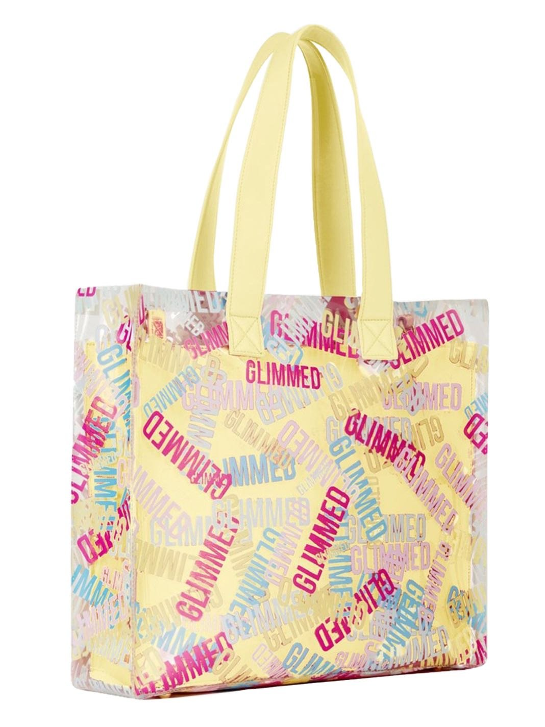 Beach Logo Yellow Shopping Bag - The Bobby Boga