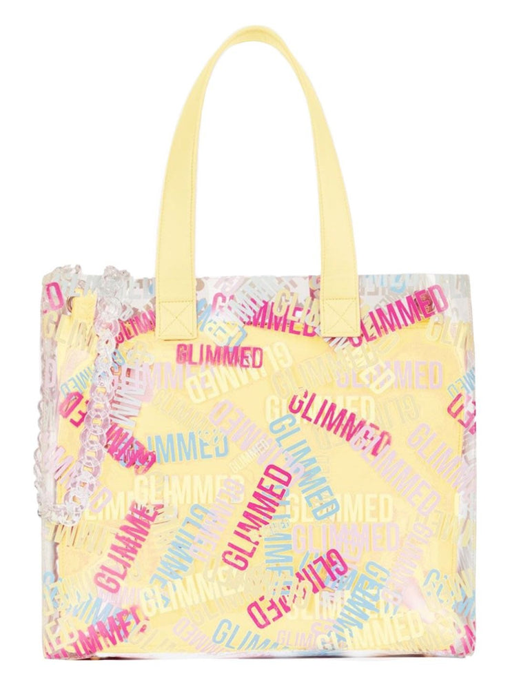 Glimmed Logo Shopping Bag PVC Yellow-THE BOBBY BOGA