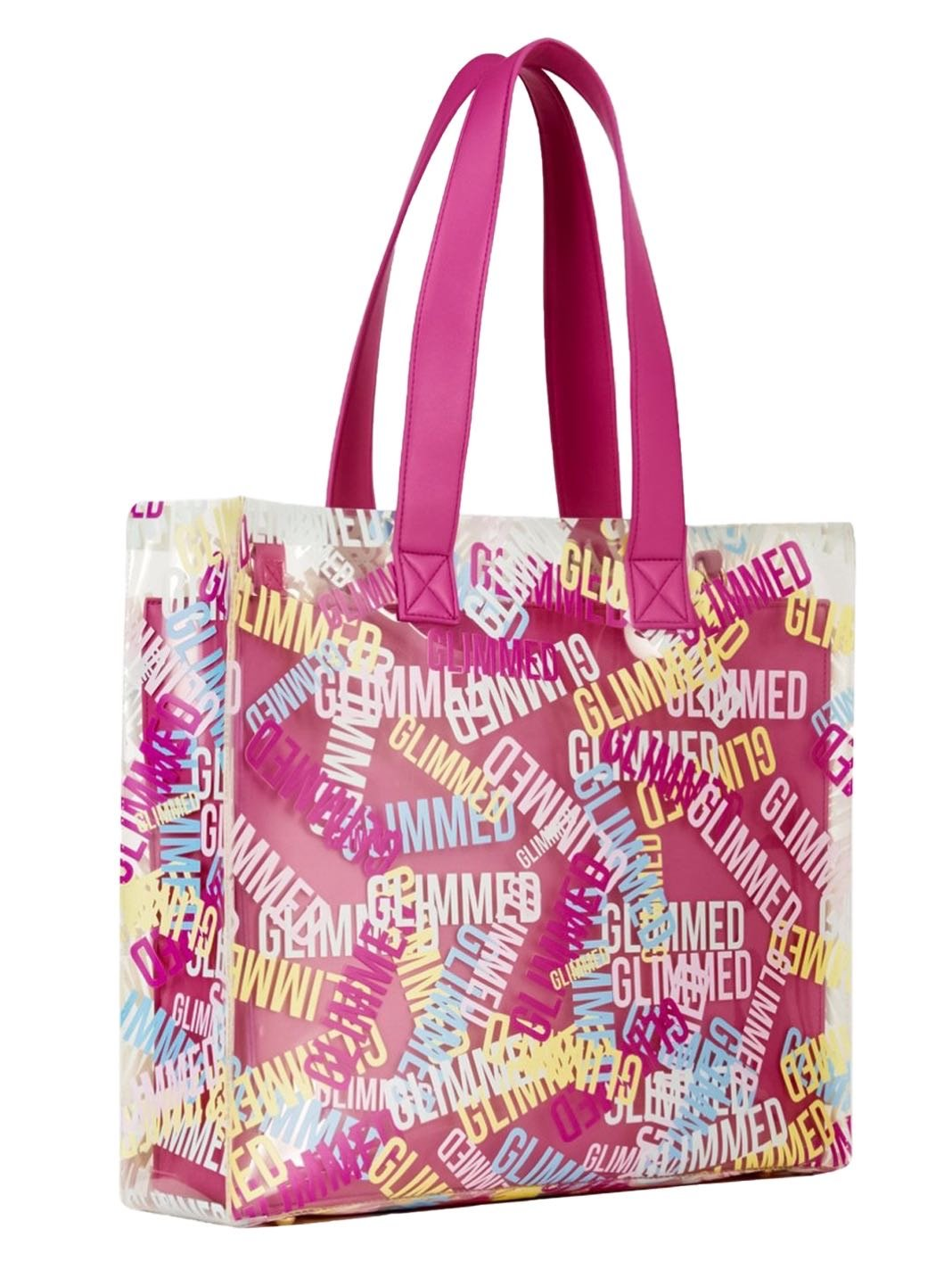 Beach Logo Fuchsia Shopping Bag - The Bobby Boga