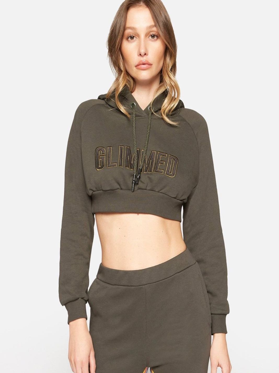 Green Crop Cotton Sweatshirt - The Bobby Boga