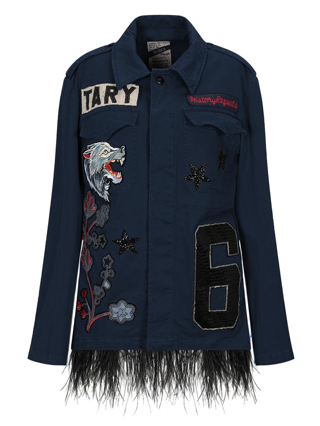 Wolf Patchwork Shirt-Jacket - The Bobby Boga