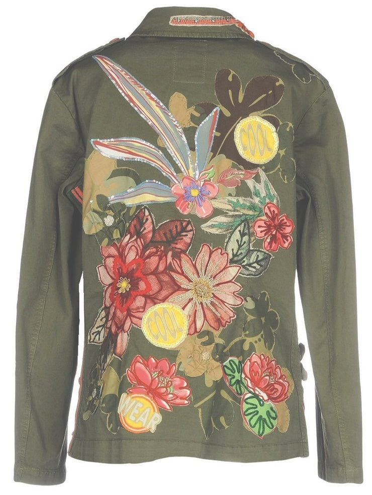 Floral Embroidery Shirt-Jacket