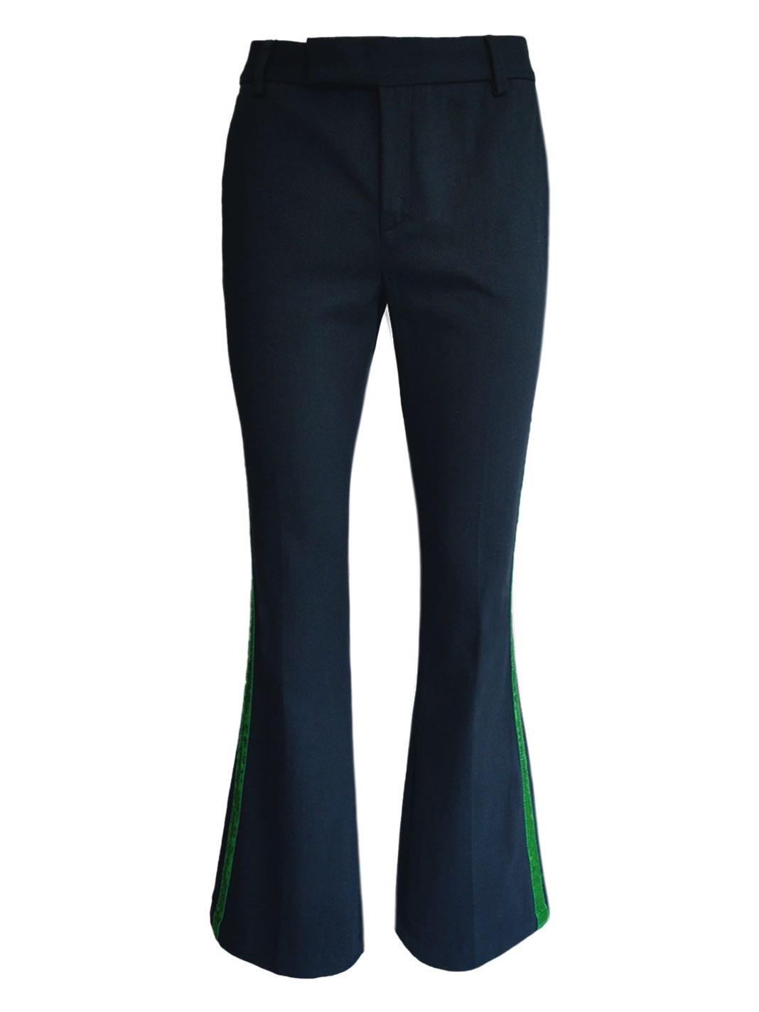 Sequin-Embroidered Side-Stripe Trousers - The Bobby Boga