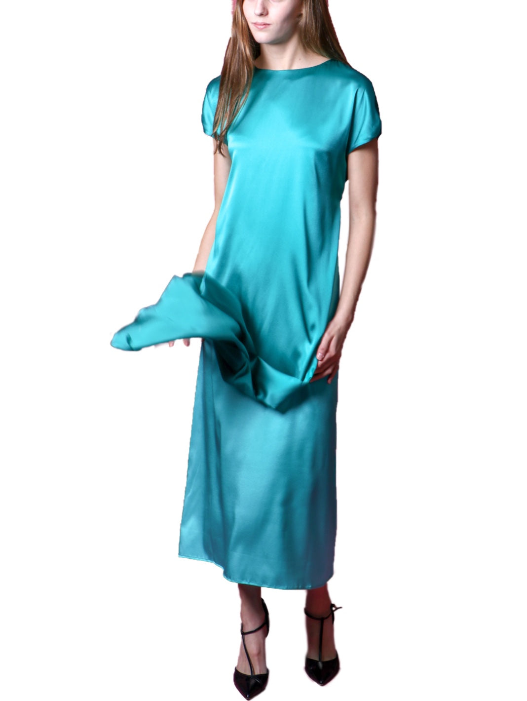 Silk Bicolor Dress - The Bobby Boga