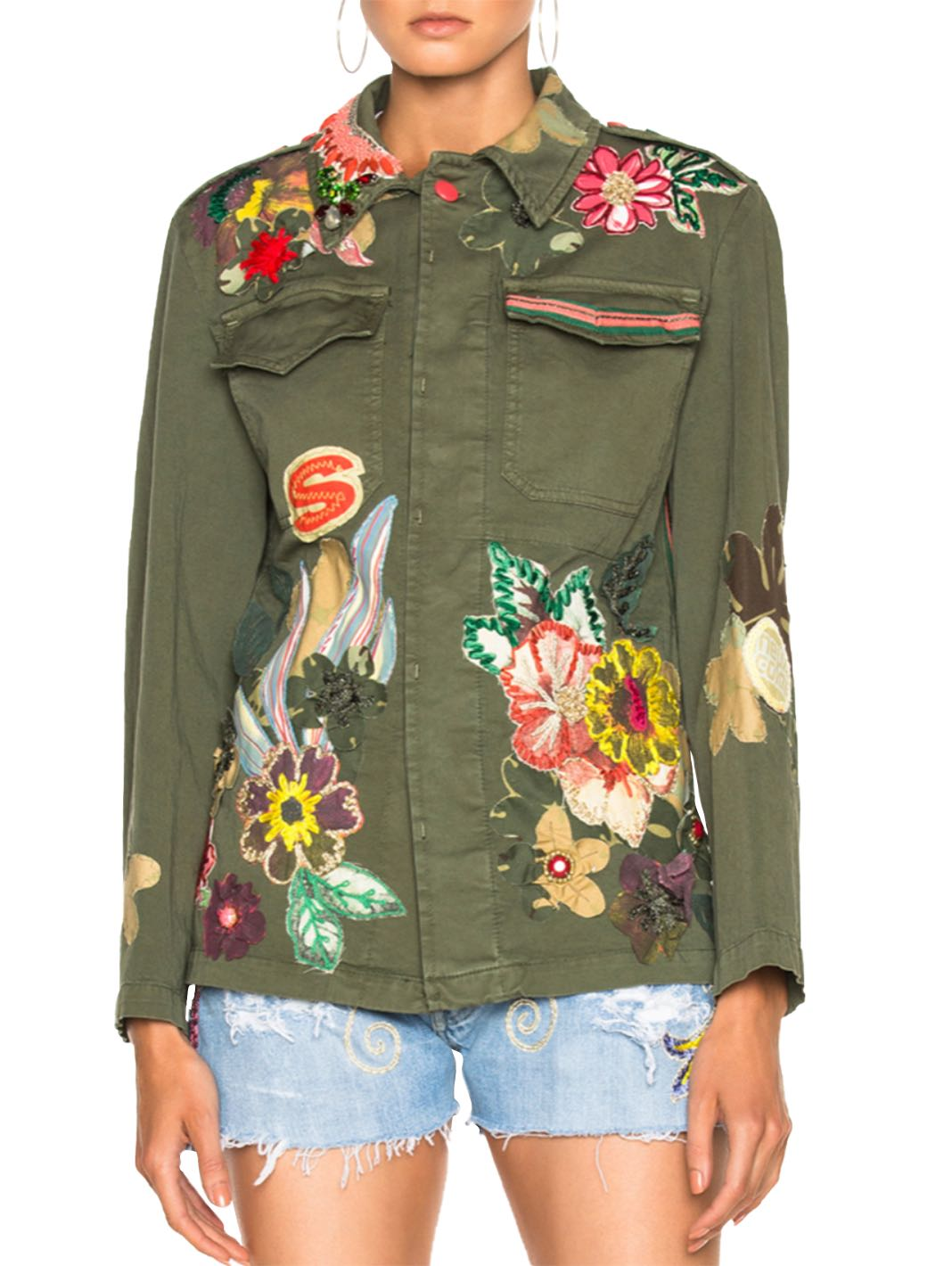 Floral Embroidery Shirt-Jacket - The Bobby Boga