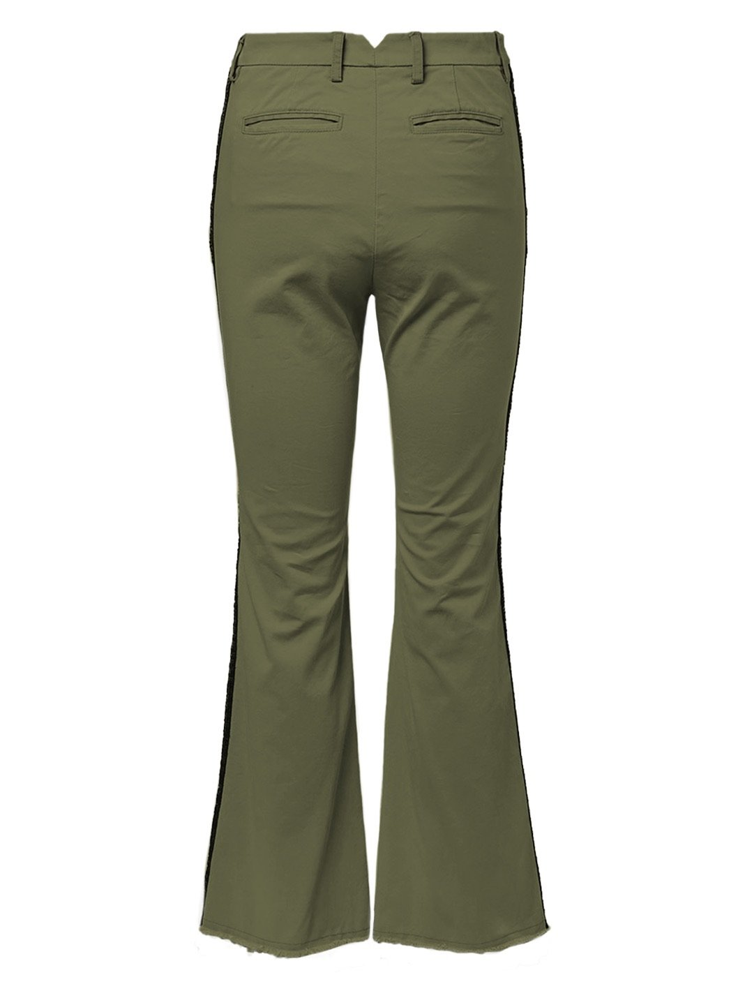 Sequin Side-Stripes Gabardine Pants Star - The Bobby Boga