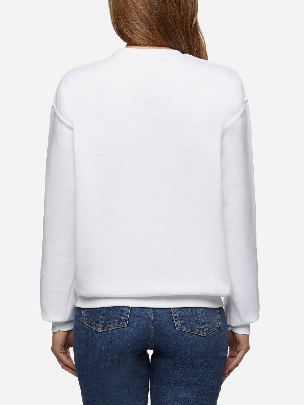 Boobs Cotton Sweatshirt White - The Bobby Boga