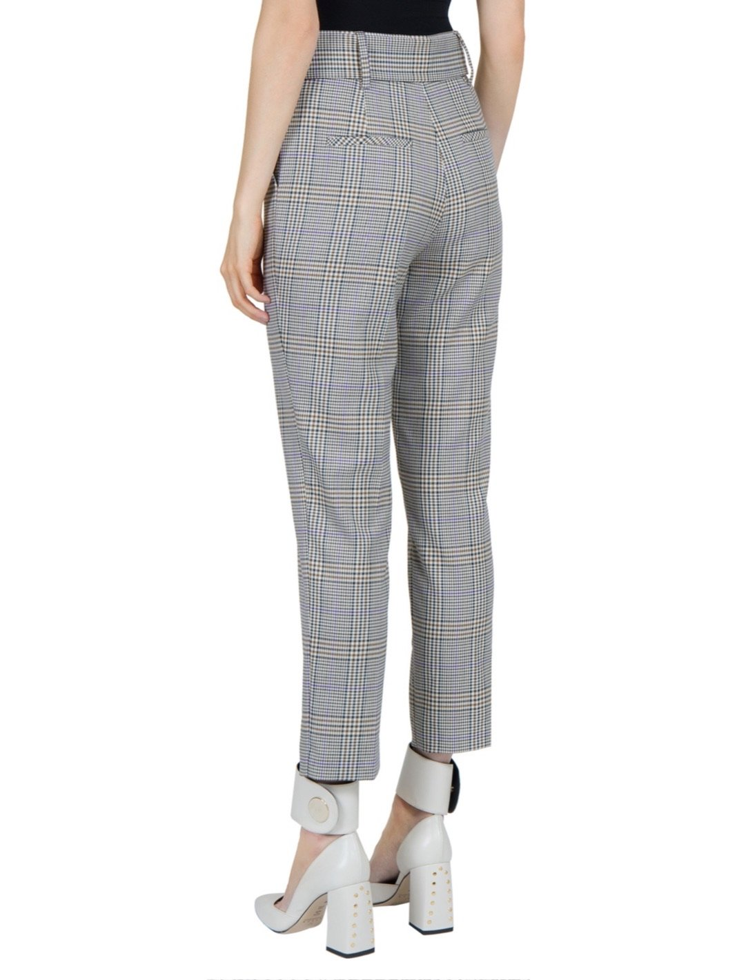 Tie Waist Prince of Wales Trousers - The Bobby Boga