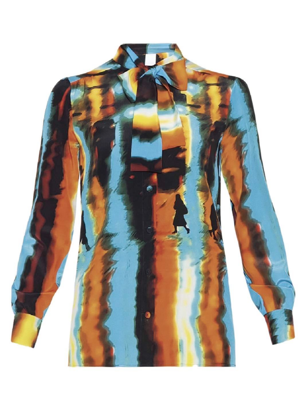 Rain Print Silk Shirt - The Bobby Boga