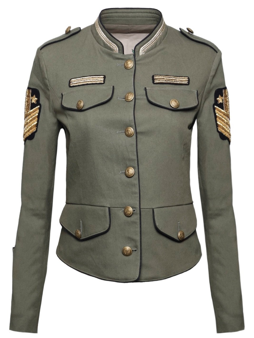 Military-Style Patched Jacket - The Bobby Boga
