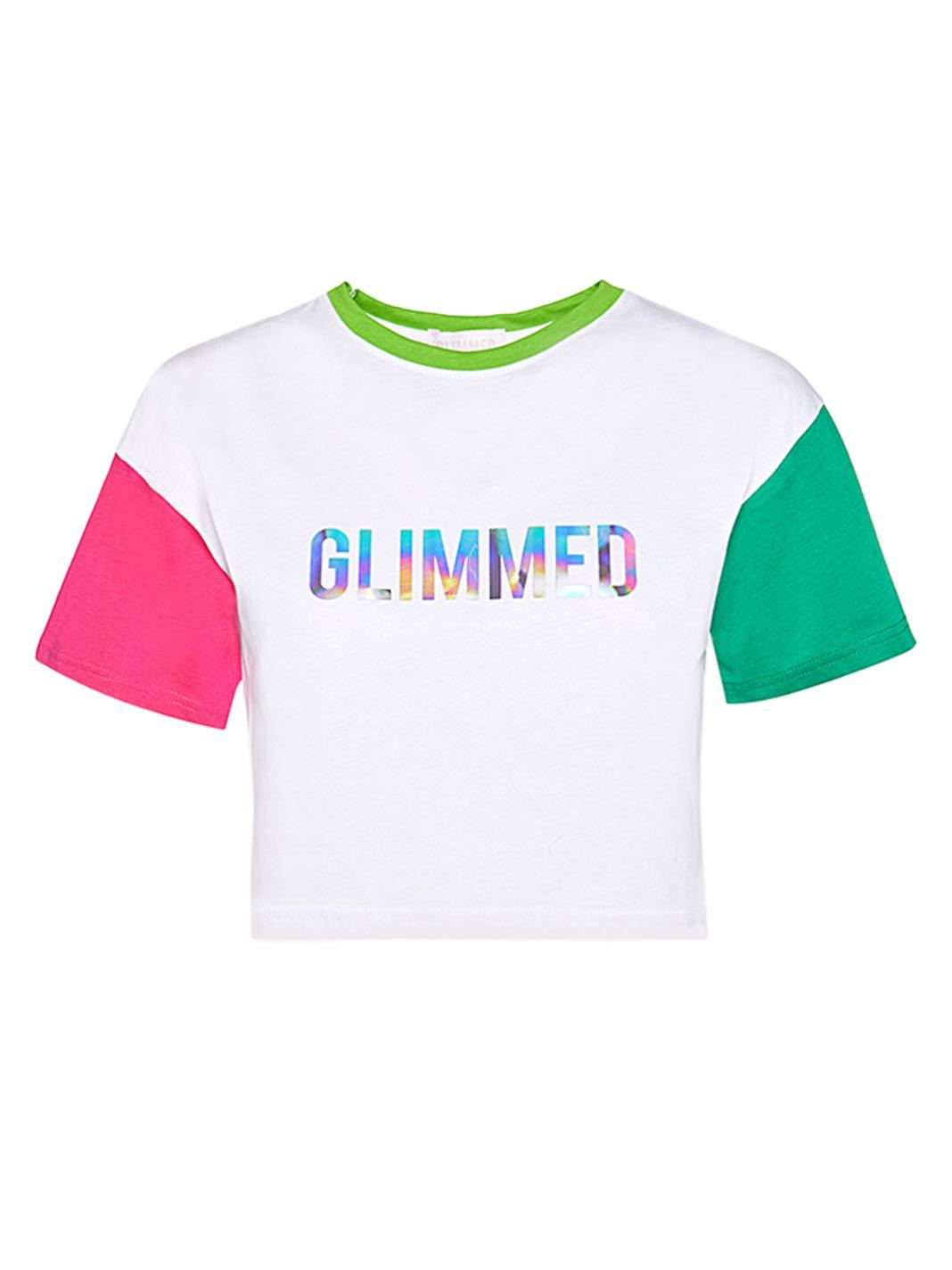 Iridescent Logo Cotton Tee - The Bobby Boga