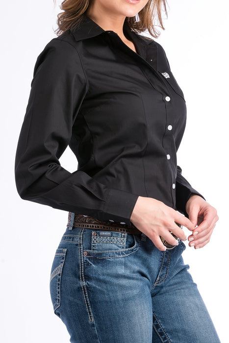 CAMISA CINCH WOMENS -SOLID BLACK