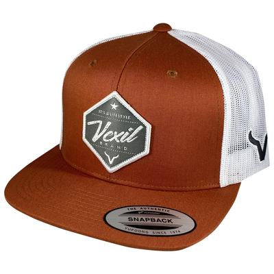 CACHUCHA VEXIL-Lifestyle - Burnt Orange/White Mesh