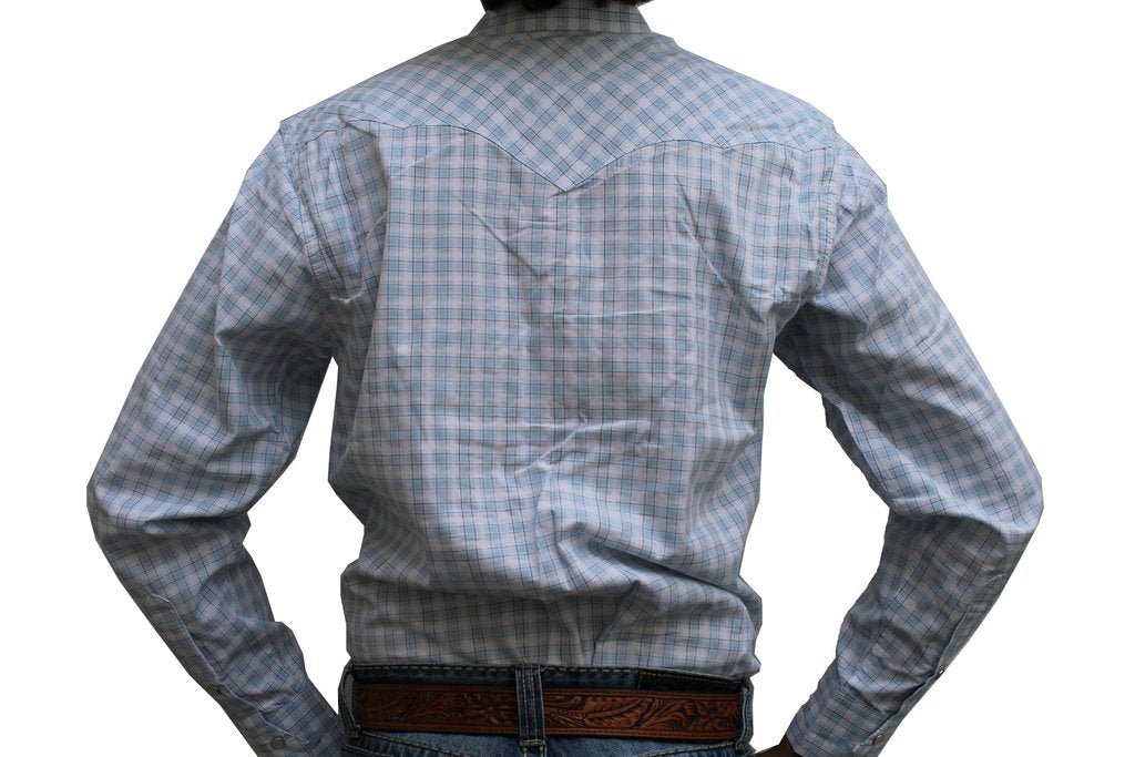 Resistol Ranch Dobby Plaid Snap