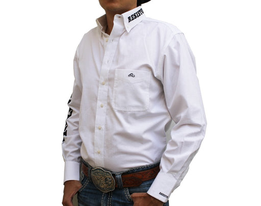 Camisa Resistol Ranch Marketing White/Black