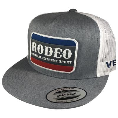 CACHUCHA VEXIL -Rodeo Patch - Heather Gray/White