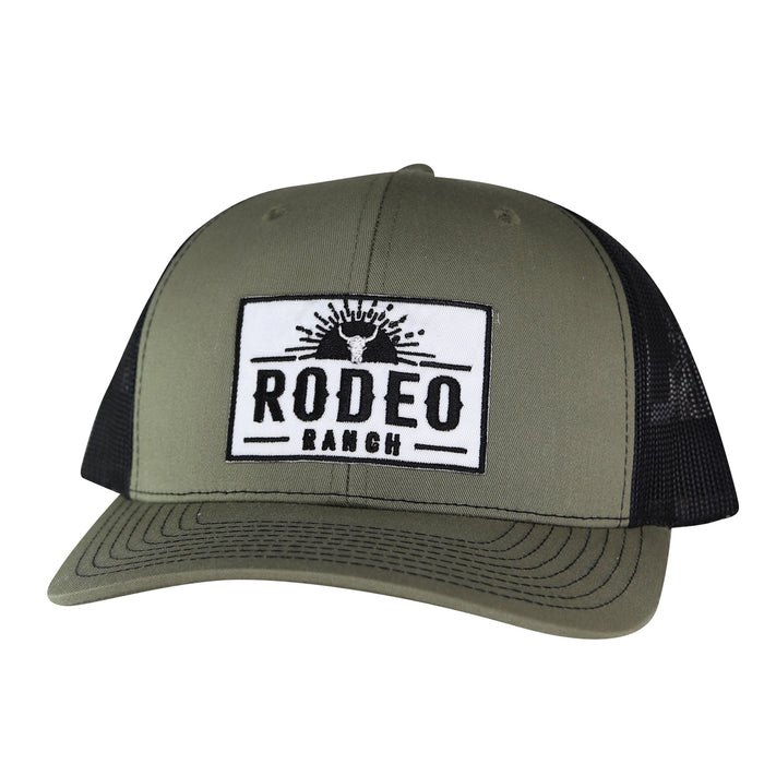 Rodeo Ranch Sunset Hat - Olive & Black