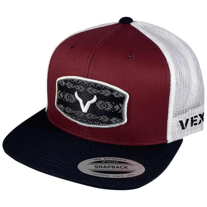 CACHUCHA VEXIL-Warrior - Black/Red Berry/White Mesh