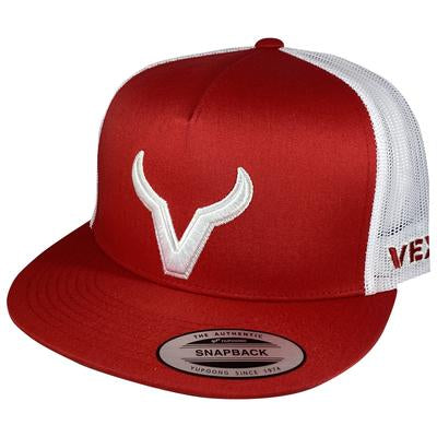 CACHUCHA VEXIL- White Icon - Red/White Mesh
