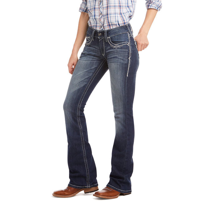 R.E.A.L. Mid Rise Stretch Entwined Boot Cut Jean-ARIAT