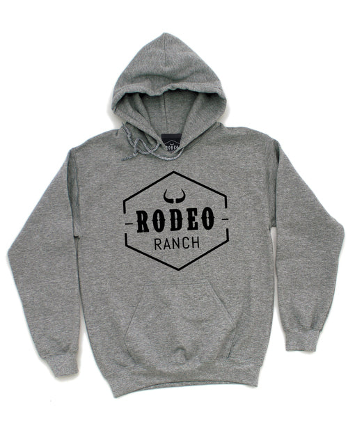 Rodeo Ranch Classic Logo Hoodie - Heather Grey