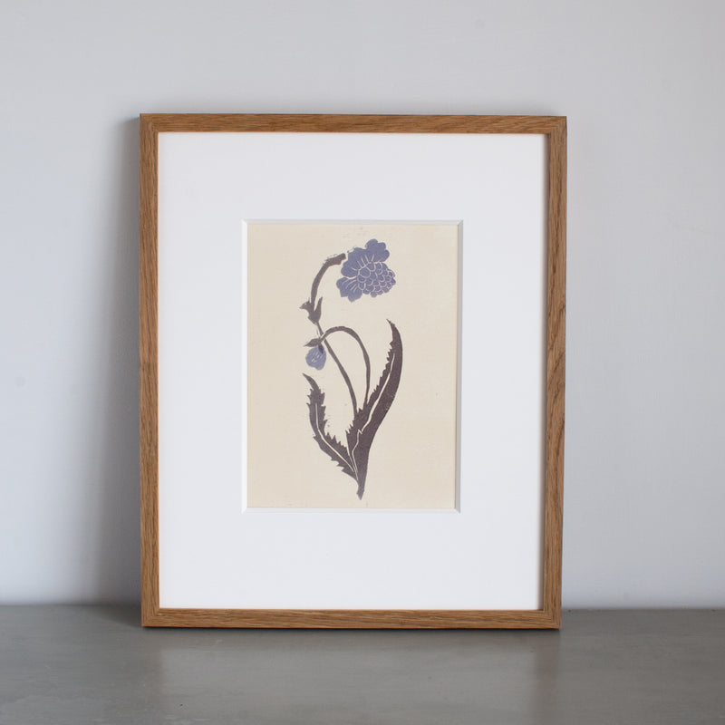 Orchid Lino Print