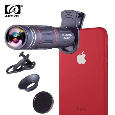 Universal 18x25 Monocular Zoom Optical Cell Phone Lens