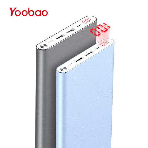 Ultra Slim Power Bank with Dual USB Output/Input