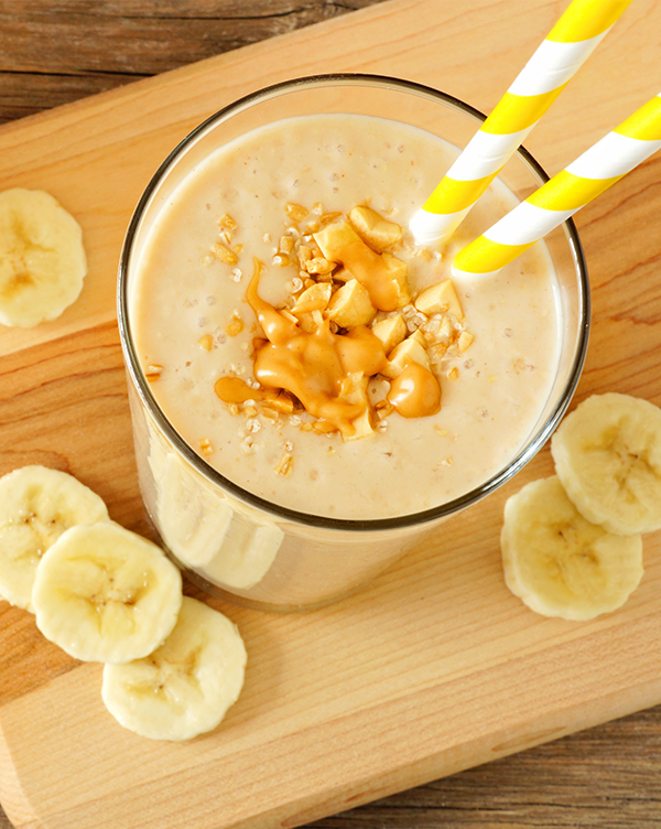 Delicious Peanut Butter, Chocolate, and Banana Smoothie Recipe!