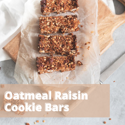 Snacking Made Simple: Oatmeal Raisin Cookie Bars