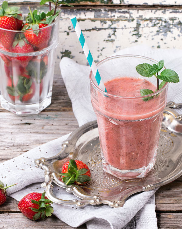 Protein-Powered Strawberry Banana Smoothie