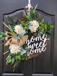 NEW! Spring Wreaths for Front Door, Front Door Wreaths, Fall Door Wreaths, Hydrangea Wreath, Grapevine Wreath, Farmhouse wreath