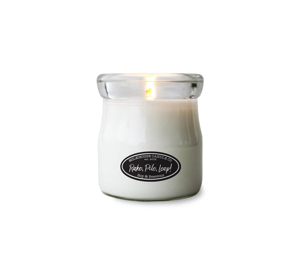 Milkhouse Candle Company - Rake, Pile, Leap! 5oz Cream Jar