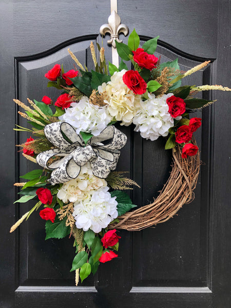 NEW! Farm House Wreath, Front Door Wreaths, Spring Door Wreaths, Spring Wreath for Door,  Farm House Decor