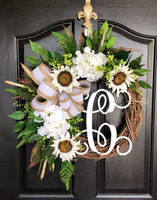 NEW! Spring Wreaths for Front Door, Front Door Wreaths, Farm House Wreaths, Sunflower Wreath, Grapevine Wreath, Farmhouse Wreath