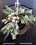 Wreath for Front Door, Christmas Wreath, Front Door Wreath, Grapevine Door Wreath, Christmas Wreaths, House Warming Gift