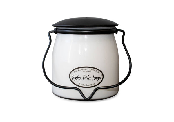 Milkhouse Candle Company - 16oz Rake, Pile, Leap! Butter Jar