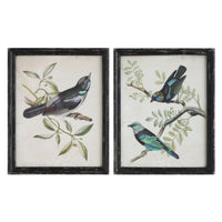 Wood Framed Wall Decor w/ Bird, 2 Styles