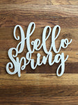 Hello Spring, Wood Signs