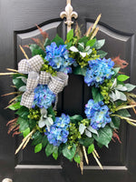 NEW ITEM!! Spring Wreaths for Front Door, Front Door Wreaths, Door Wreaths, Hydrangea Wreath, Grapevine Wreath, Farmhouse Wreath