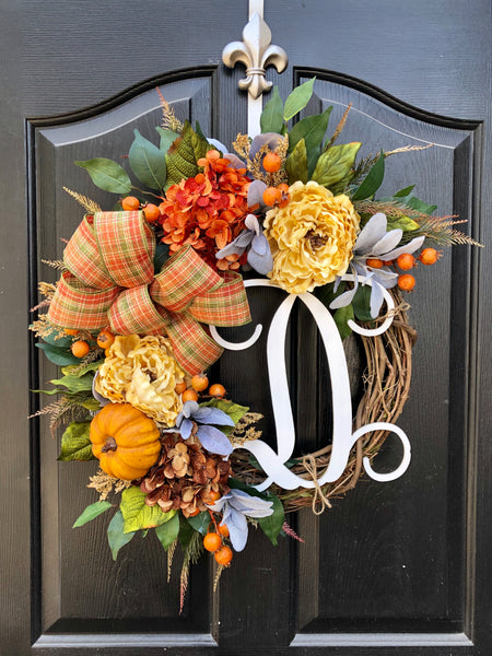 Fall Wreaths for Door, Fall Wreaths, Wreaths for Door, Fall Door Wreath, House Warming Gift, Front Door Wreaths, Lambs Ear, Farm House