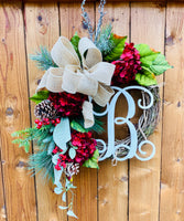 Christmas Wreath for Front Door, Wreath for Christmas, Door Decor, Christmas Door Wreath, Front Door Christmas Wreath, Outdoor Wreath