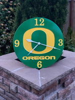 Oregon Duck Clock, Oregon Sports Teams, Oregon Clocks, Hand Made Clock, Wooden Clock