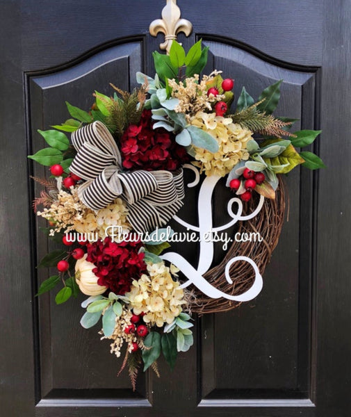 NEW! Wreaths for Door, Fall Wreaths, Wreaths for Door, Fall Door Wreath, Front Door Wreaths, Lambs Ear, Farm House