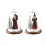 Santa Glass Dome Ornament