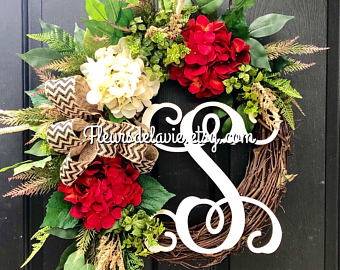 Spring Door Wreaths, Summer Wreaths for Front Door, Spring Wreath, Year Round Wreath, Front Door Wreaths, Home Decor, Farm House Wreath