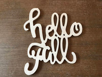 Hello Fall, Wood Sign, Wood Signs, Farm House Decor, Home Decor, House Warming, Interior Design